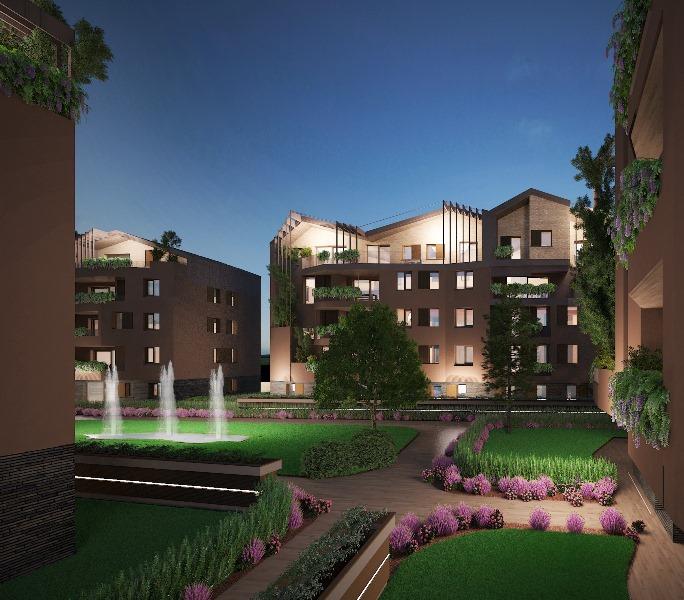 Nuovo intervento edilizio in classe A4 composto di appartamenti con giardino o attici con terrazze solarium a MOGLIANO VENETO